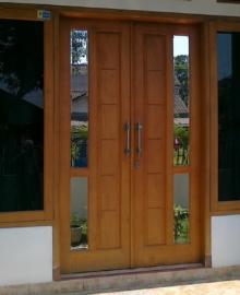 Harga Kusen 2 Pintu Kayu Jati