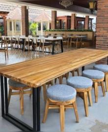 Meja Kursi Cafe Bulat Stool