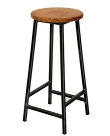Kursi Bar Stool Besi Jati