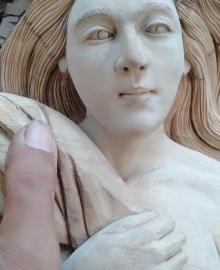 Patung Kayu Putri Cantik