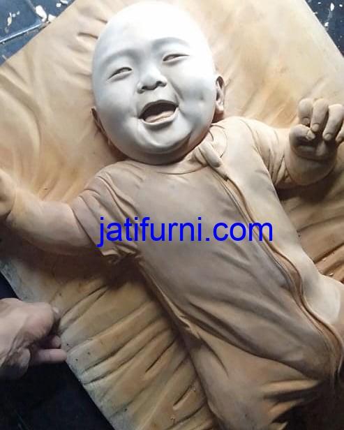Patung Kayu Baby